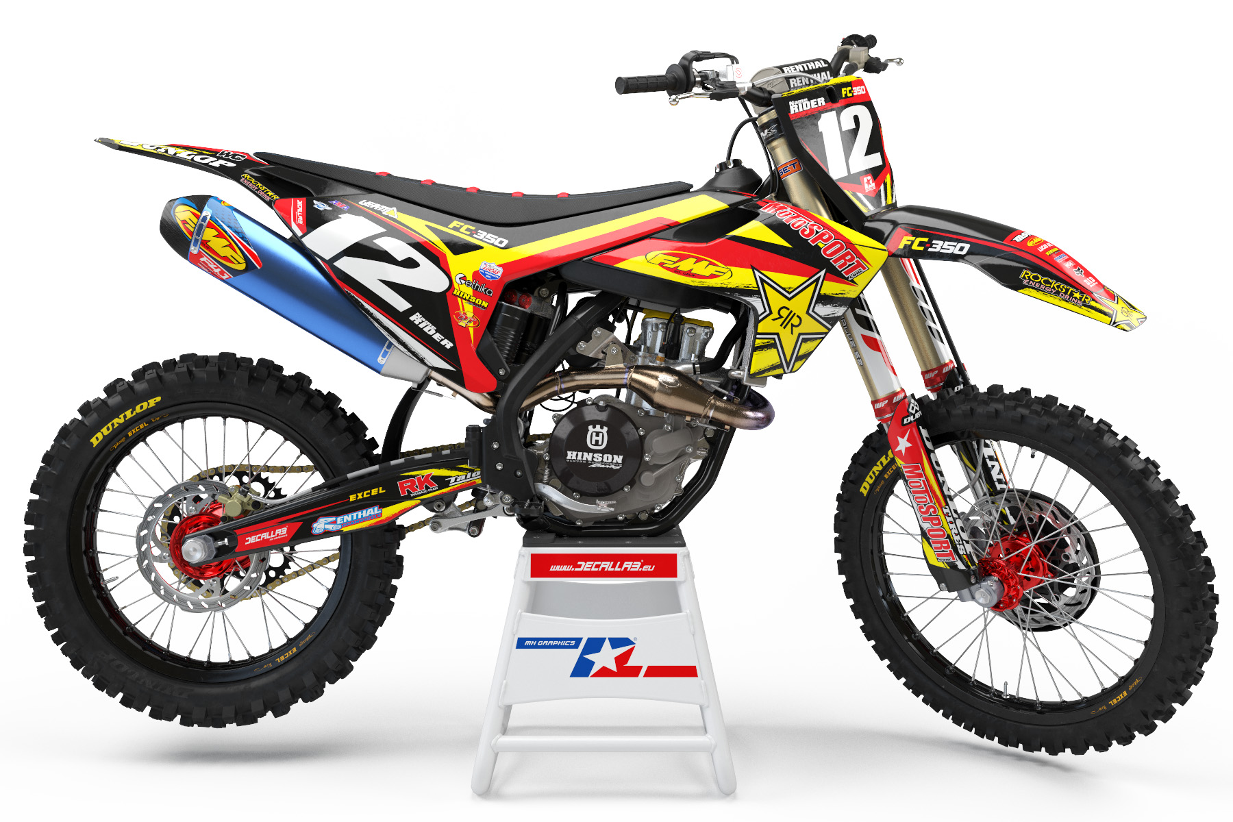 rock star mx declas stickers graphics motocross racing suzuki ktm yamaha husqvarna honda kawasaki design