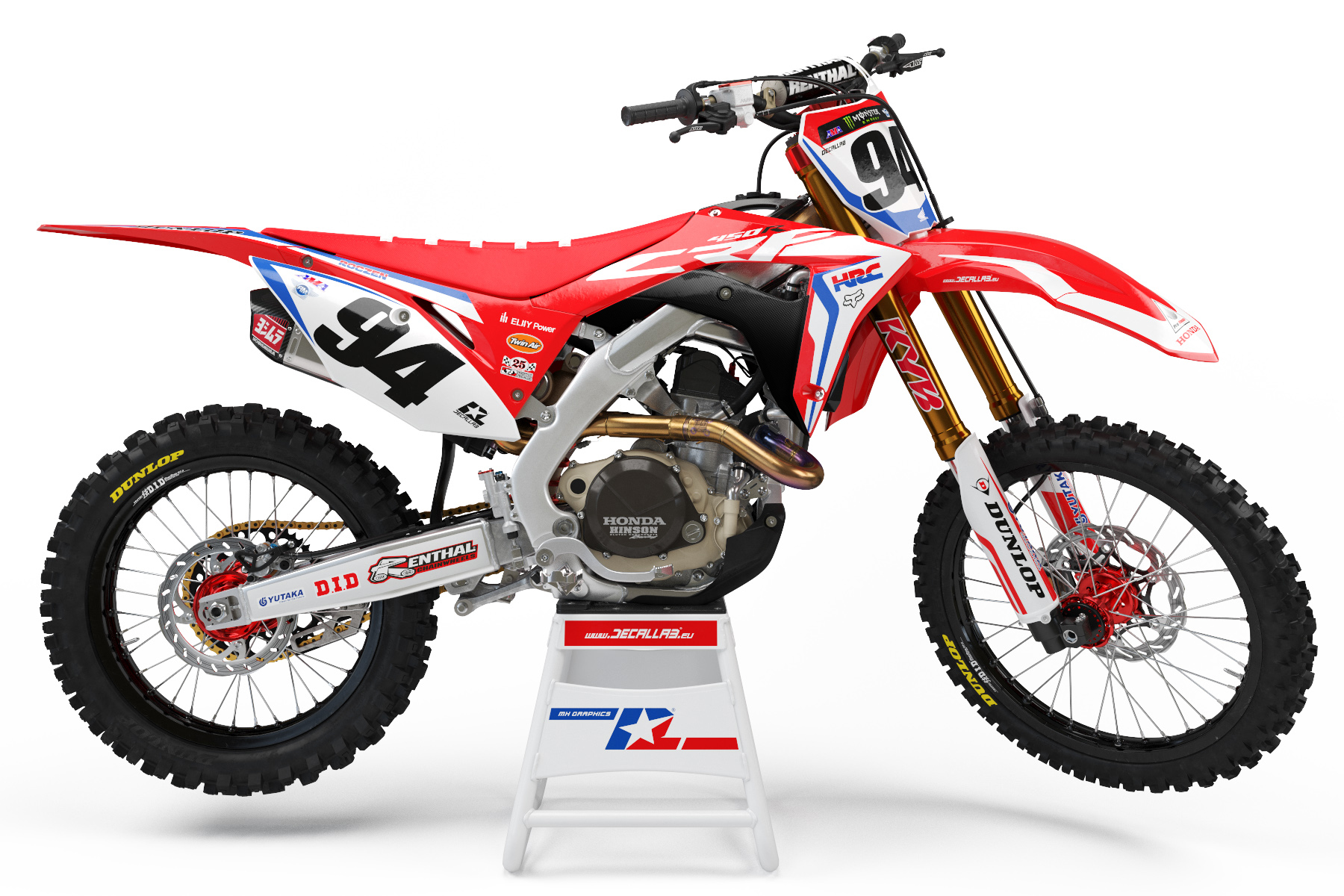 ken roczen custom dirt bike graphics hrc honda racing. Black Bedroom Furniture Sets. Home Design Ideas