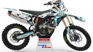 decallab SUZUKI carib blue factory one time answer decal dirt bike graphics kit RM RMZ yoshimura 125 250 450 2019