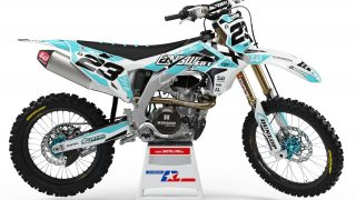 decallab white kawasaki factory world mx graphics dirt bike graphics ks kxf klx 65 85 125 250 450 answer fox yoshimura