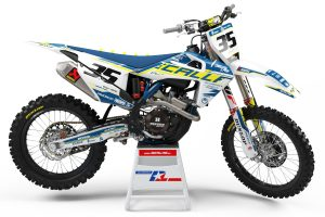 THROWBACK TEAM GRAPHICS YAMAHA 2006 2007 2008 2009 YZF 250 450 DECALS RETRO