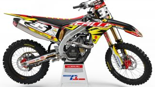 decallab SUZUKI factory pkz time decal dirt bike graphics kit RM RMZ yoshimura 125 250 450 2019