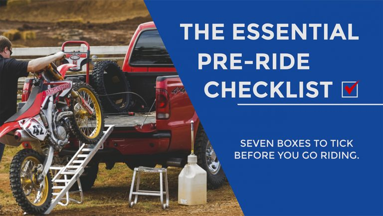 dirt bike how to THE ESSENTIAL PRE-RIDE CHECKLIST - 7 BOXES TO TICK BEFORE YOU GO RIDING