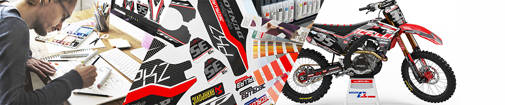 Dirt Bike Graphics Printing Production Design Decals Mx Graphics Decallab KTM Partnership