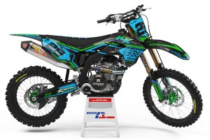 Kawasaki-10th-anniversary-Dirt-Bike-Motocros-Graphics-Decals-Decallab-KXF-KX-450-250-2018-2019-2020-2021-Black-Blue-Green-Side